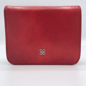 """NWT Bosca Small """"French Purse"""" Wallet in Red"""
